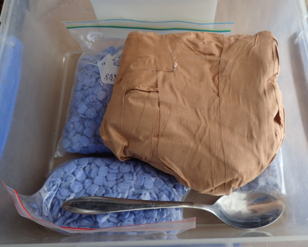 Some of the drugs discovered. Photo: WA Police