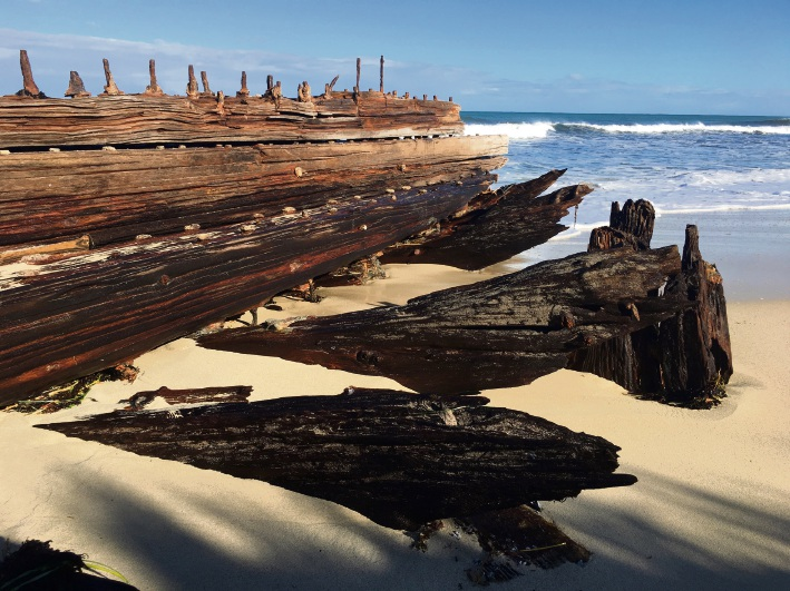 The wreck on August 17. Pictures: Ruth Annesley
