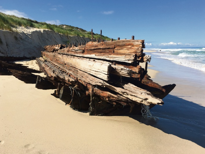 The wreck on August 22 after the ribs were sawn off. Picture: Ruth Annesley