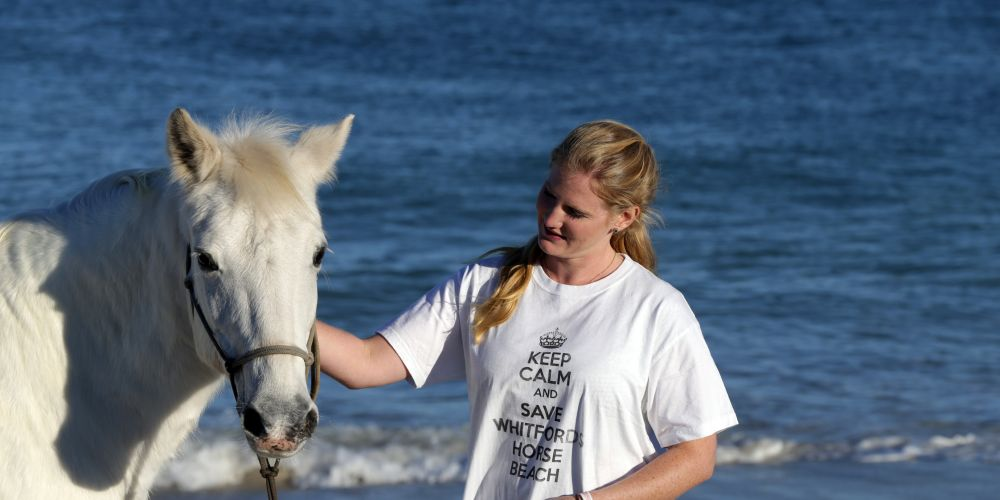 Muchea resident Sarah Bevan with Lucy. Picture: Martin Kennealey.