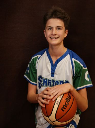 Talented young basketballer Aden Moulten loves the game. Picture: Martin Kennealey    d470543