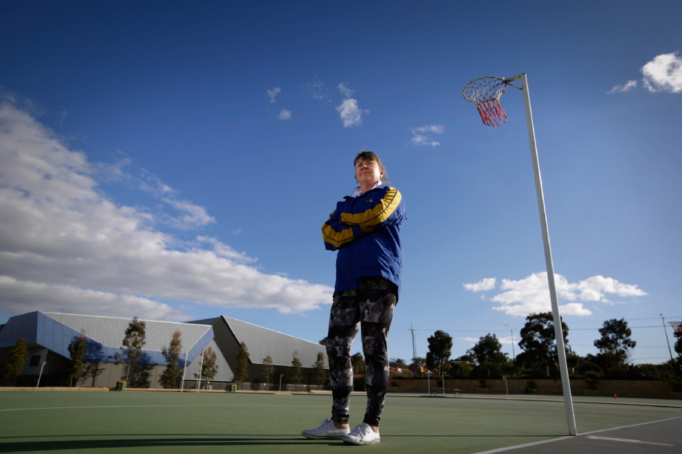 Perth Netball Association president Elaine Clucas has asked for support from the Town of Cambridge for support to install lights on 19 courts at teh Matthews Netball Centre. Picture: Andrew Ritchie
