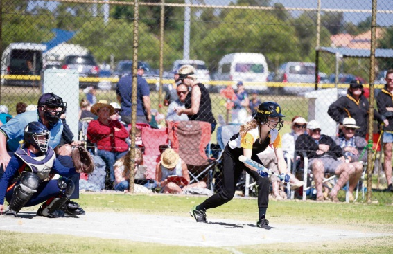 Mikayla Buchanan (14) represented WA in the under-15 development state team at Softball WA's National/Regional competition in January.