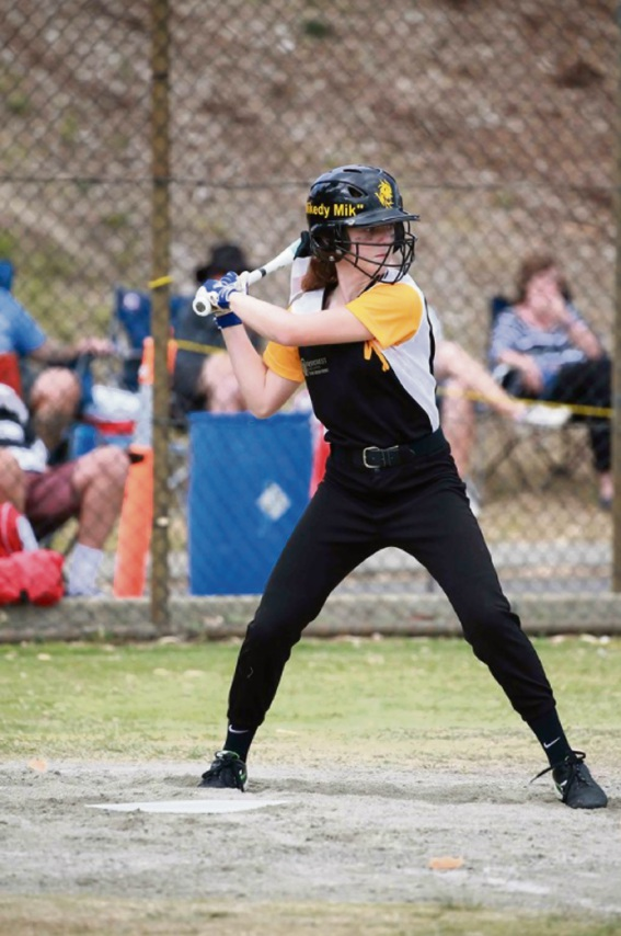 Softball: Bedford's Mikayla Buchanan in to bat for spot in State team