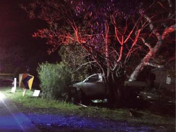 The crash in Parkerville. Photo: Pete Read