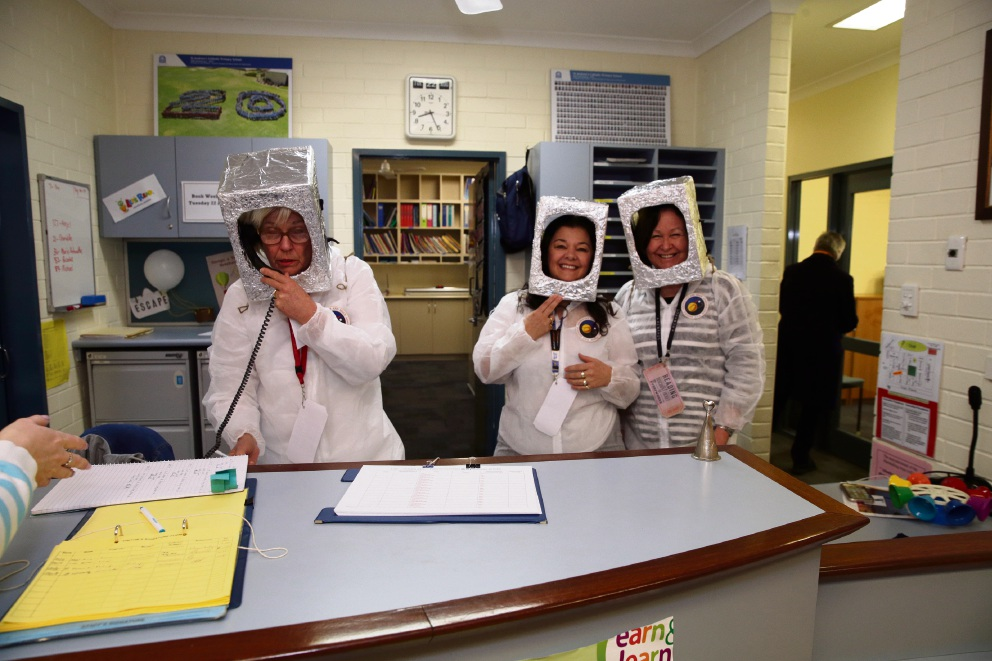 Admin staff Lesley O'Neil, Muzzie Raferty and Jacqui Durtanich. Picture: Martin Kennealey