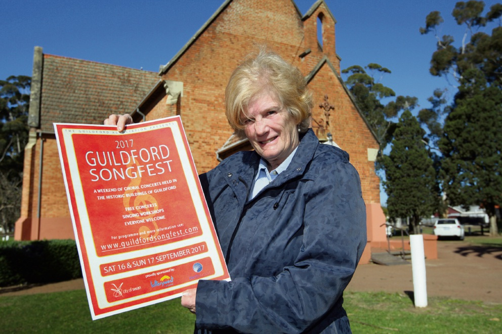 Yvonne Henderson at St Matthews Anglican Church, Guildford. Picture: Bruce Hunt d473143