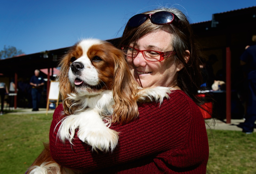 Rachael Dean with her dog Kenny. Picture: Marie Nirme