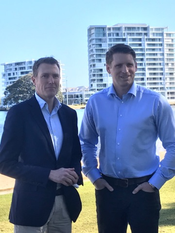 Canning MHR Andrew Hastie and Social Services Minister Christian Porter