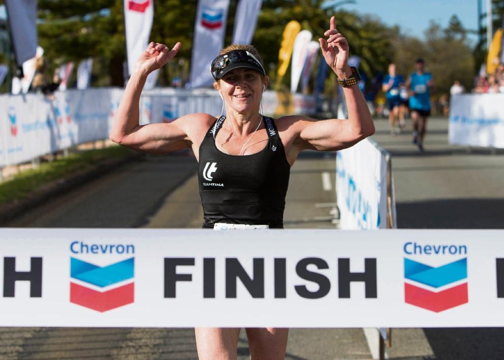 42km Marathon Female Winner Rolenda Giorgi Picture: Matt Jelonek www.communitypix.com.au   d473091