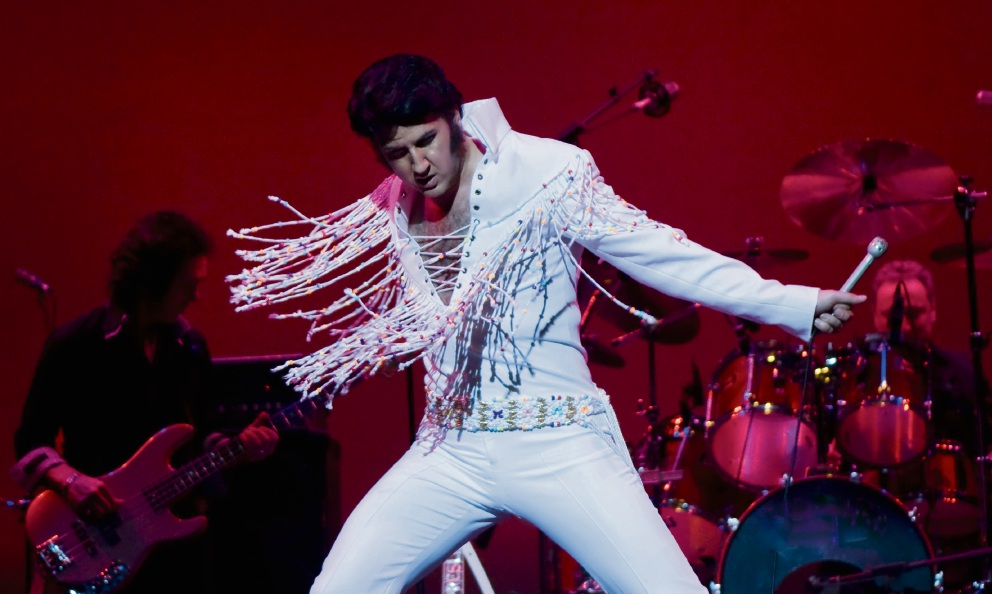 Mark Anthony in full Elvis flight. He will be performing a tribute show next month.