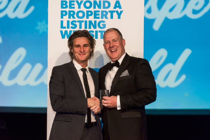 Space Real Estate director Justin Davies with REIWA president Hayden Groves.
