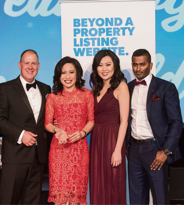 Top team value sold: Hayden Groves with LJ Hooker Dalkeith-Claremont director Vivien Yap, Phoebe Shi and Moses Marrion.
