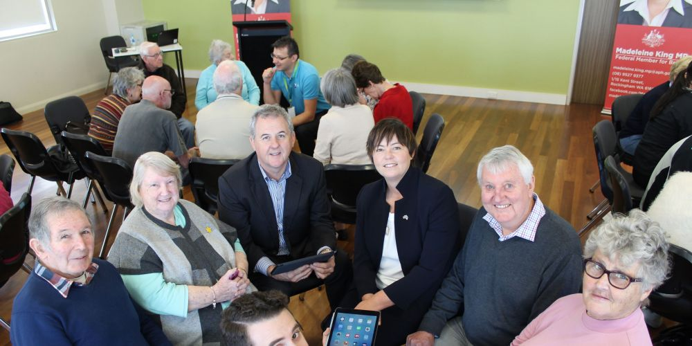 Seniors are learning the latest in technology at the Connected Seniors Workshop in Rockingham.
