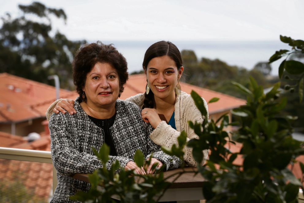 Guity Taheri (58) with her daughter Shameem Taheri-Lee. Picture: Andrew Ritchie www.communitypix.com.au d473021