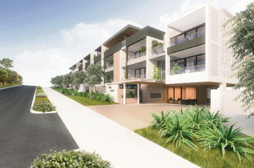 Artist impression from Beach Road.