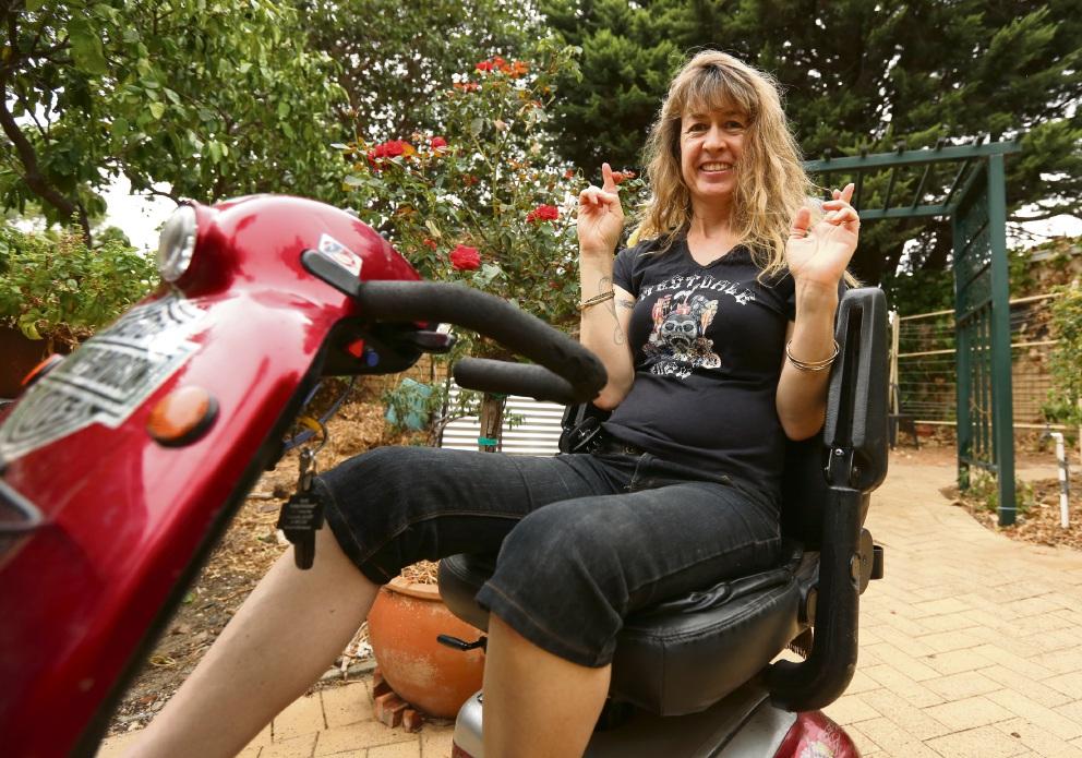 Nina Radamanthos on the stolen red gopher familiar to many Kalamunda residents.