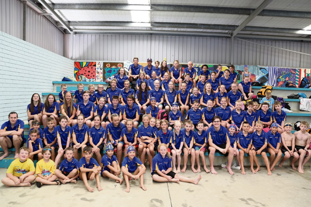 Some of the swimmers from the club who will be competing in the upcoming state Championships – both Age/Open and Junior.