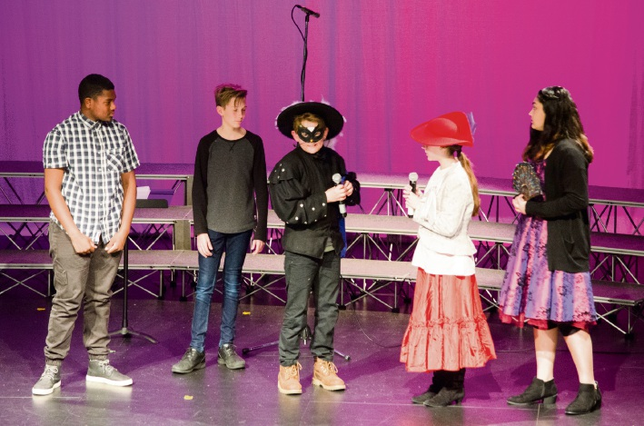 "Ellenbrook Christian College students performing ""Puss in Boots"" in French."
