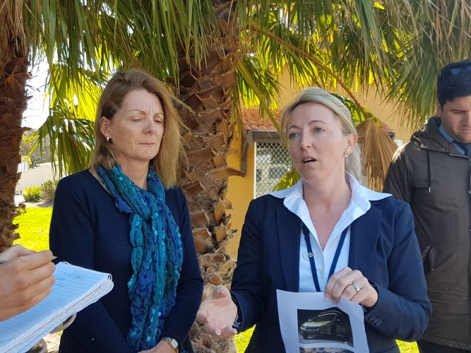 Mandurah Councillor Caroline Knight and Detective Senior Constable Adele McSeveny