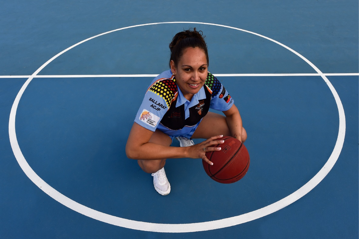 SAFETY Bay Senior High School Aboriginal and Islander education officer Vanessa Michael, who has been playing basketball all her life, won bronze medal in Canada recently.