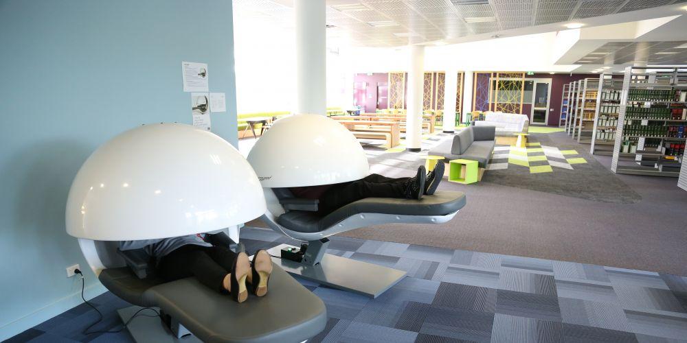 The nap pods at ECU