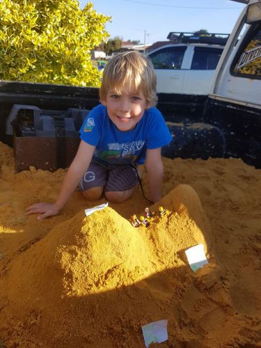 Golden Bay youngster supports protest using Lego men