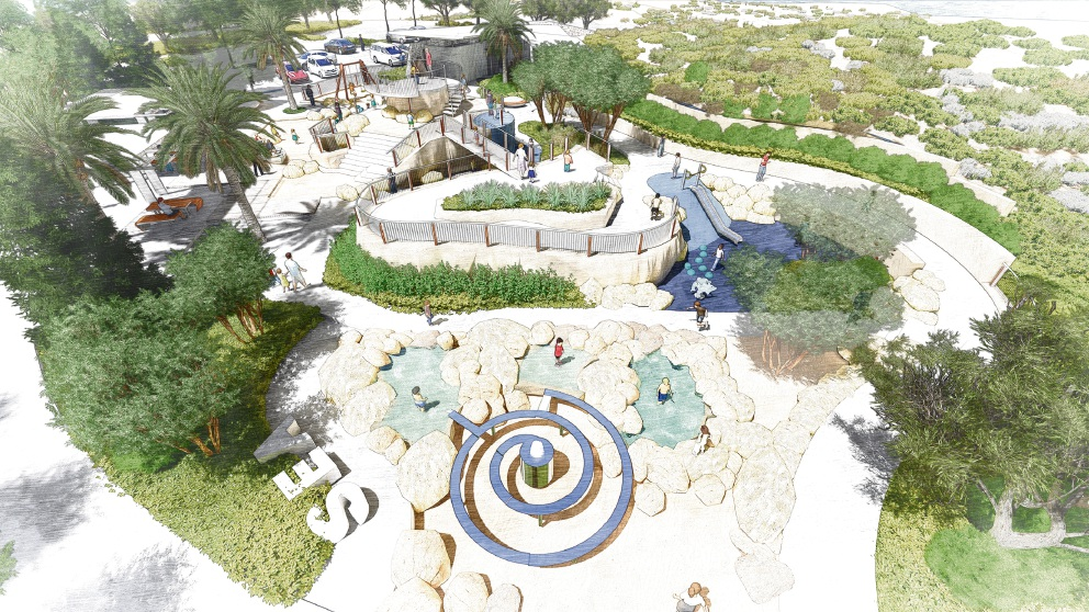 Artist's impressions of the coastal node park in the former Club Capricorn Resort site.
