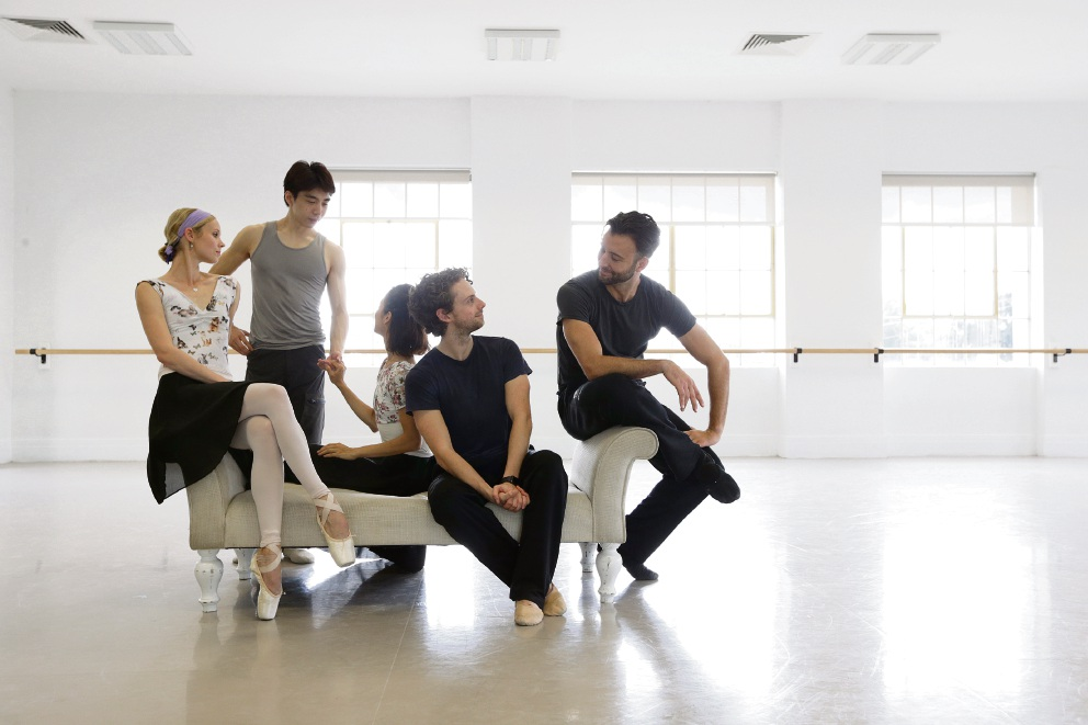 Brooke Widdison-Jacobs, Gakuro Matsui, Chihiro Nomura, Oliver Edwardson and Matthew Lehmann. Picture: Andrew Ritchie
