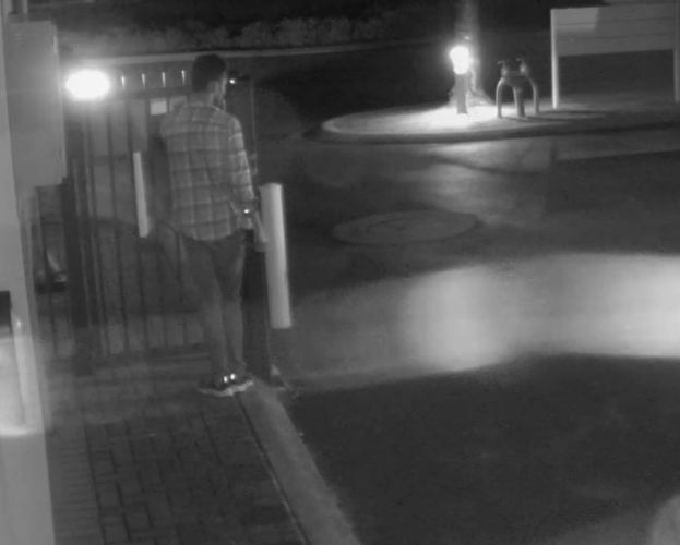 Mandurah detectives would like to speak to this man following the assault of a mother and her toddler at an apartment building.