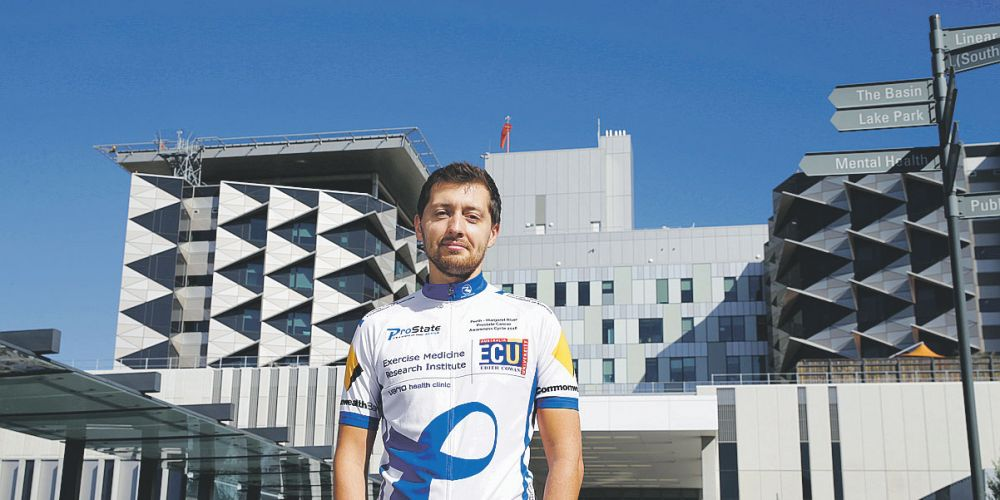 Arek Mazurek, a medical physicist at Fiona Stanley Hospital, is riding to raise funds for prostate cancer in the ProState Active  bike ride.