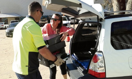 The City of Joondalup's e-waste drop off day went well.