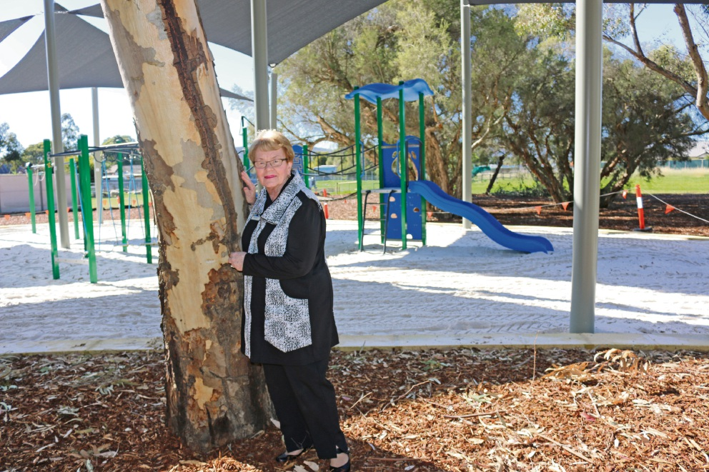 Gosnells Mayor Olwen Searle at the recently revitalised Weston Street Reserve.