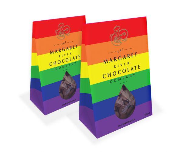 Margaret River Chocolate Company launches rainbow packaging in support of marriage equality