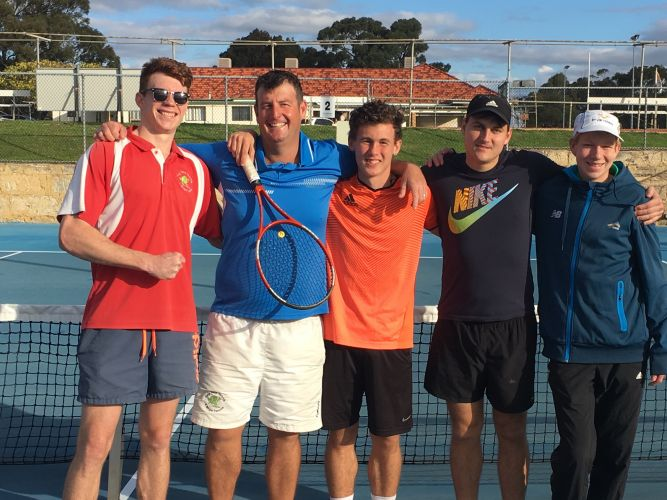 Bayswater Tennis Club's successful men's Division 1 team.