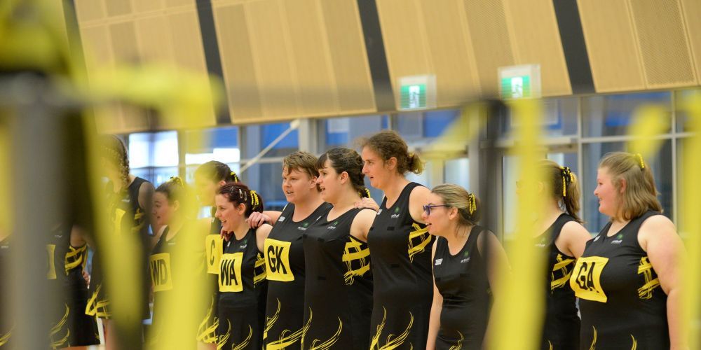 Players prepare to contest the Marie Little OAM Shield.