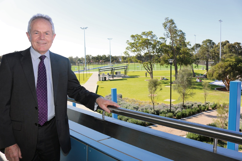City of Gosnells Infrastructure director Dave Harris at Mills Park.