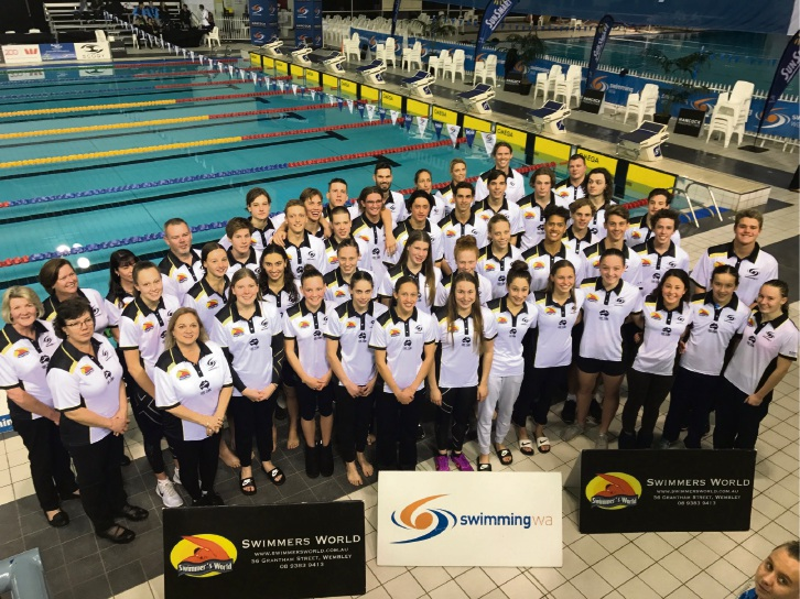 The Swimming WA short course team.