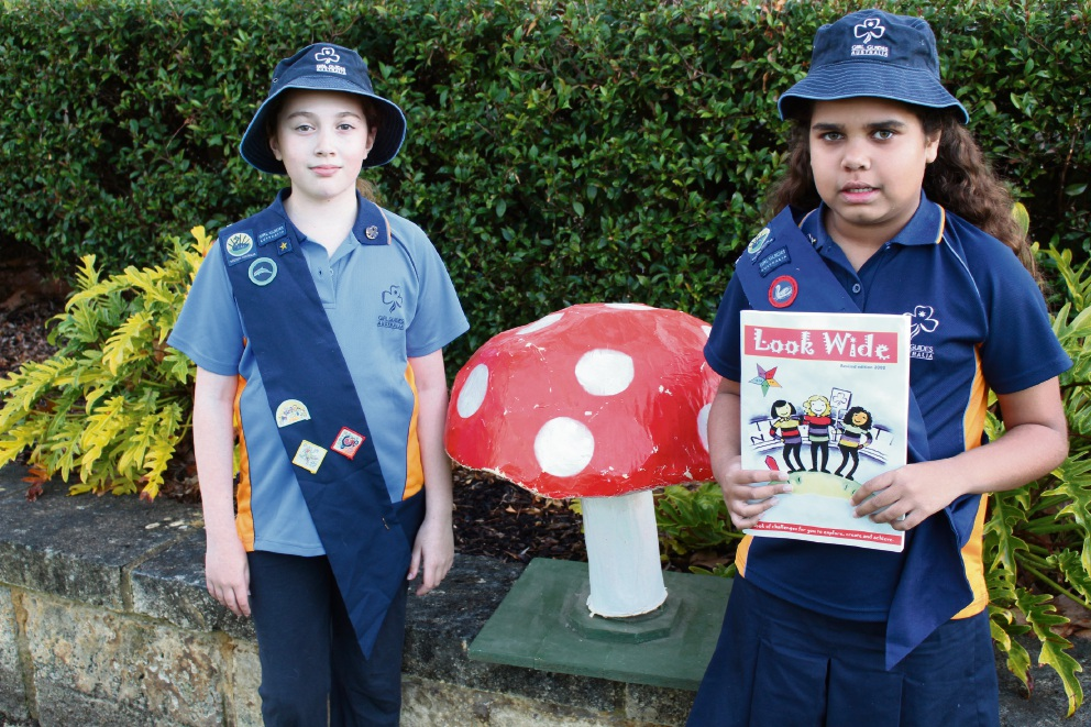 Girl Guides Samara Schafer and Aysiah Brennan are looking for new recruits.