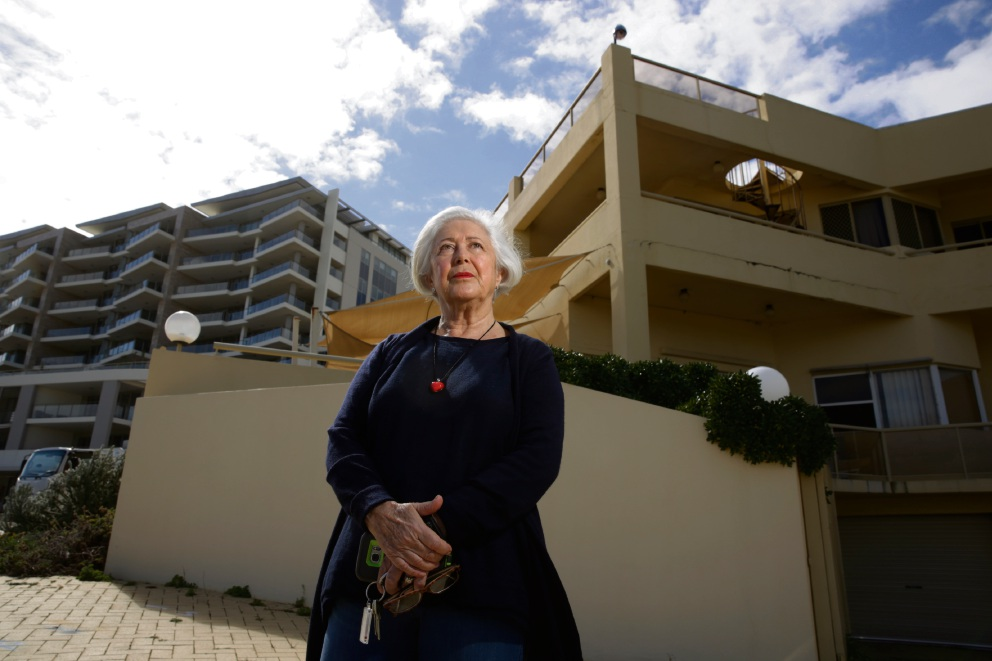 Freda Krupenia and other Scarborough residents are opposing an application for Cape a Bouvard  apartment development. Picture: Andrew Ritchie d473360