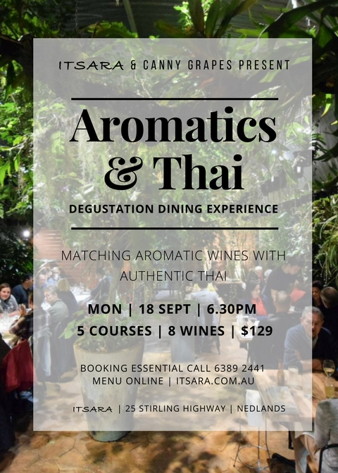 Aromatics and Thai Degustation wine dinner