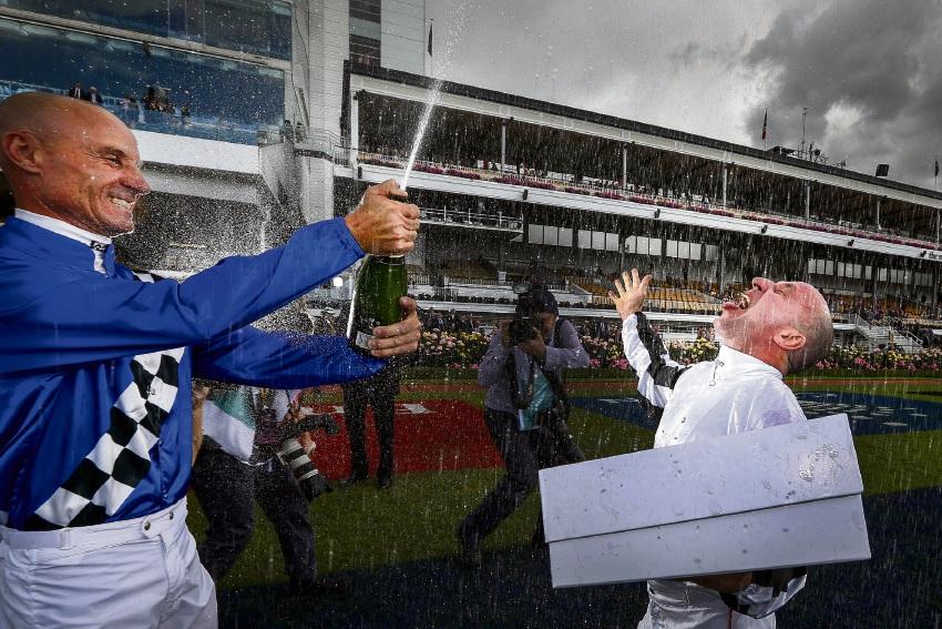 Eddie Jim, Champagne Shower.