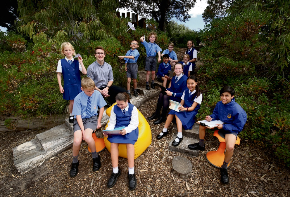 Students from years 2, 4 and 6 at Whitford Catholic Primary School. Picture: 	Matt Jelonek d473646