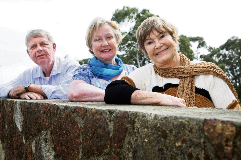 Albert Hazebroek (Chairperson), Gail Campbell (Treasurer) and Celia Cheffins (Event Co-ordinator). Picture: Bruce Hunt