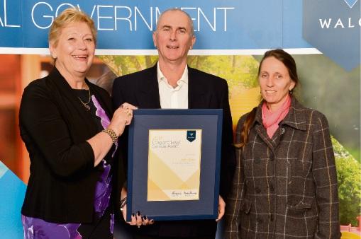 WALGA President Cr Lynne Craigie, Shire of Mundaring Cr John Daw and his wife Emmanuelle.