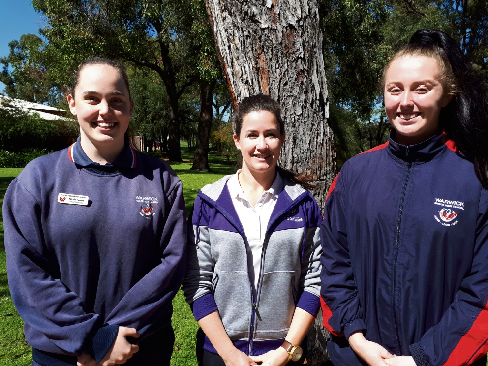 Nicola Hames, Pia Faletti and Mikella Johnson will be on a panel of |athletes speaking at the Joondalup BPWA event.