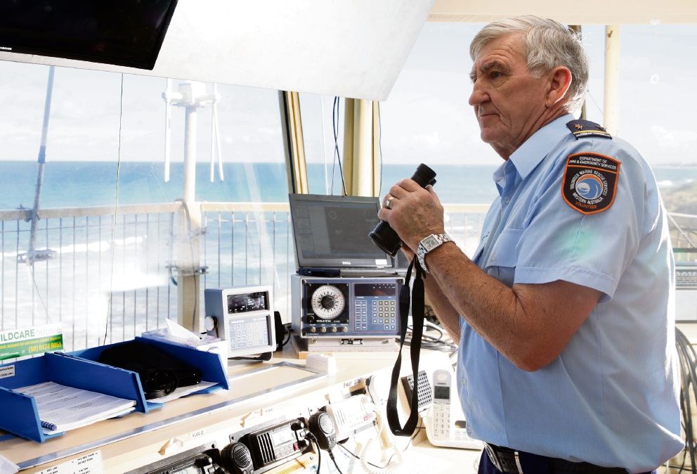 Whitfords Volunteer Sea Rescue Group member Peter Peebles (radio operations leader). Picture: Martin Kennealey d473798