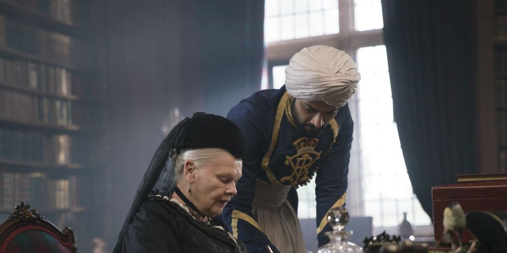 Judi Dench and Ali Fazal in Victoria & Abdul.