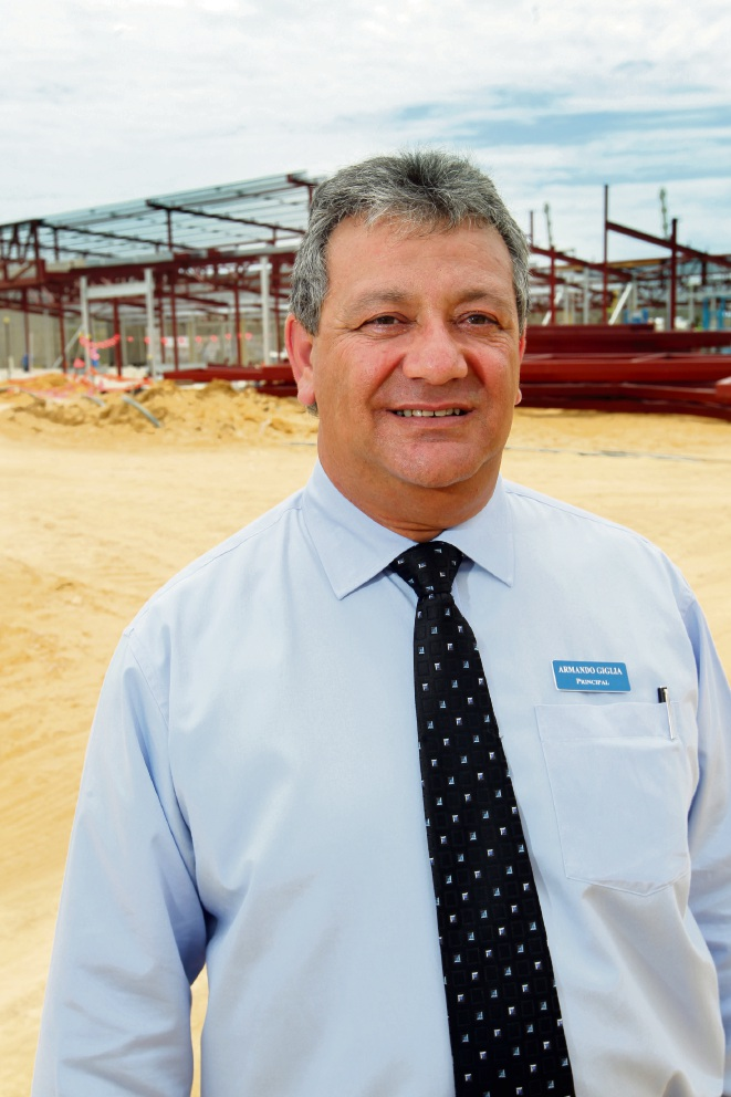 Butler College principal Armando Giglia is a finalist for secondary principal of the year in the WA Education Awards. Picture: Bruce Hunt d372646