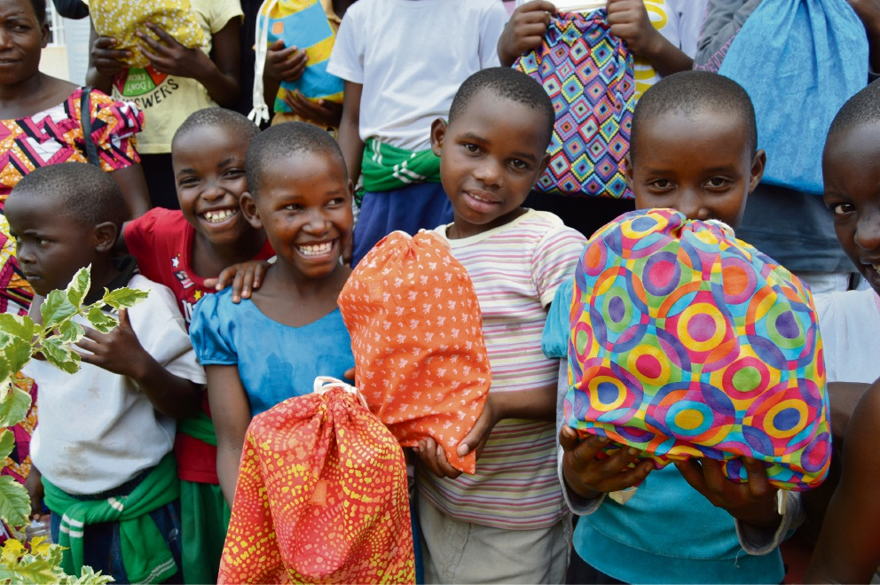 Days for Girls kit recipients in Kigalia, Rwanda.